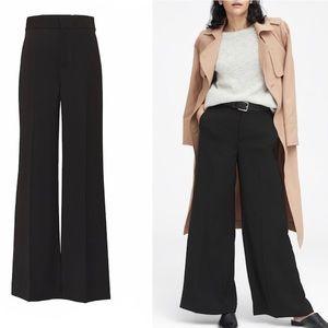 BR | black wide leg slacks pants sz 10
